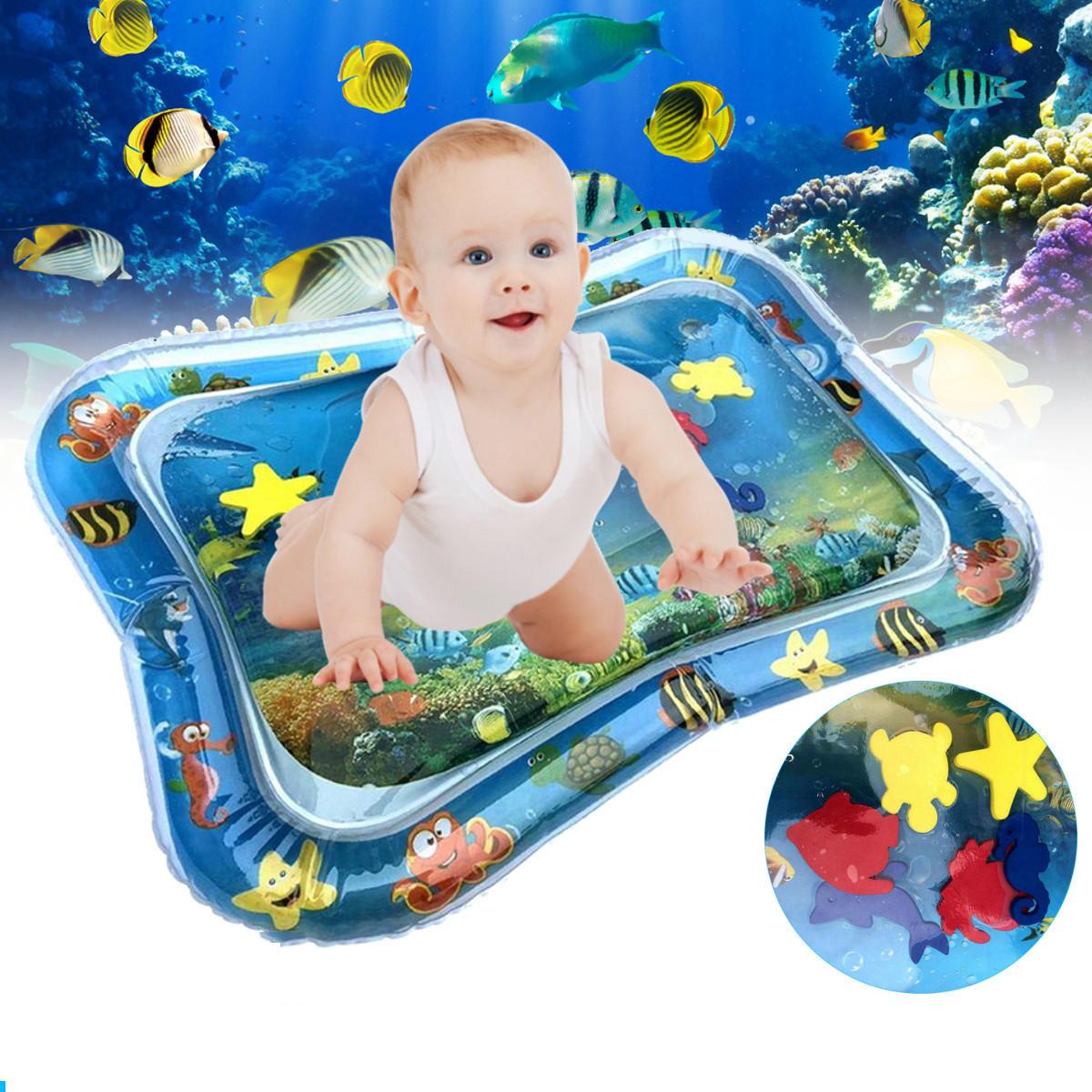 66x50cm Bơm hơi cho trẻ em chơi Mat Trẻ sơ sinh Bơi không khí Nệm Trẻ mới biết đi Vui bụng Thời gian hoạt động Công cụ