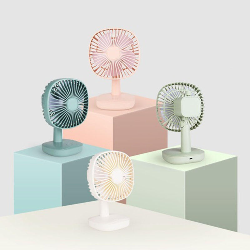 LyRay YS2911 Table Fan Mini Portable USB Charging Fan Low Noise Durable Life Natural Wind Lightweight Fan