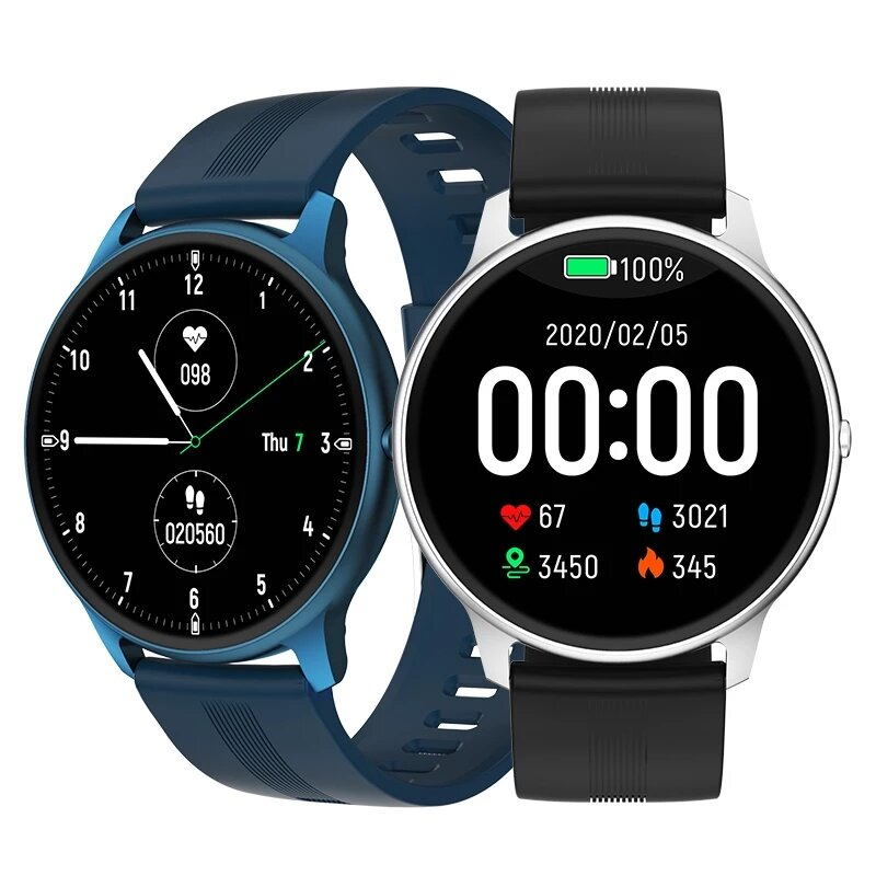 [bluetooth 5.0]Bakeey LW11 1.28'' Full Touch Heart Rate Blood Pressure Oxygen Monitor Multiple Dials Customized Watch Fa