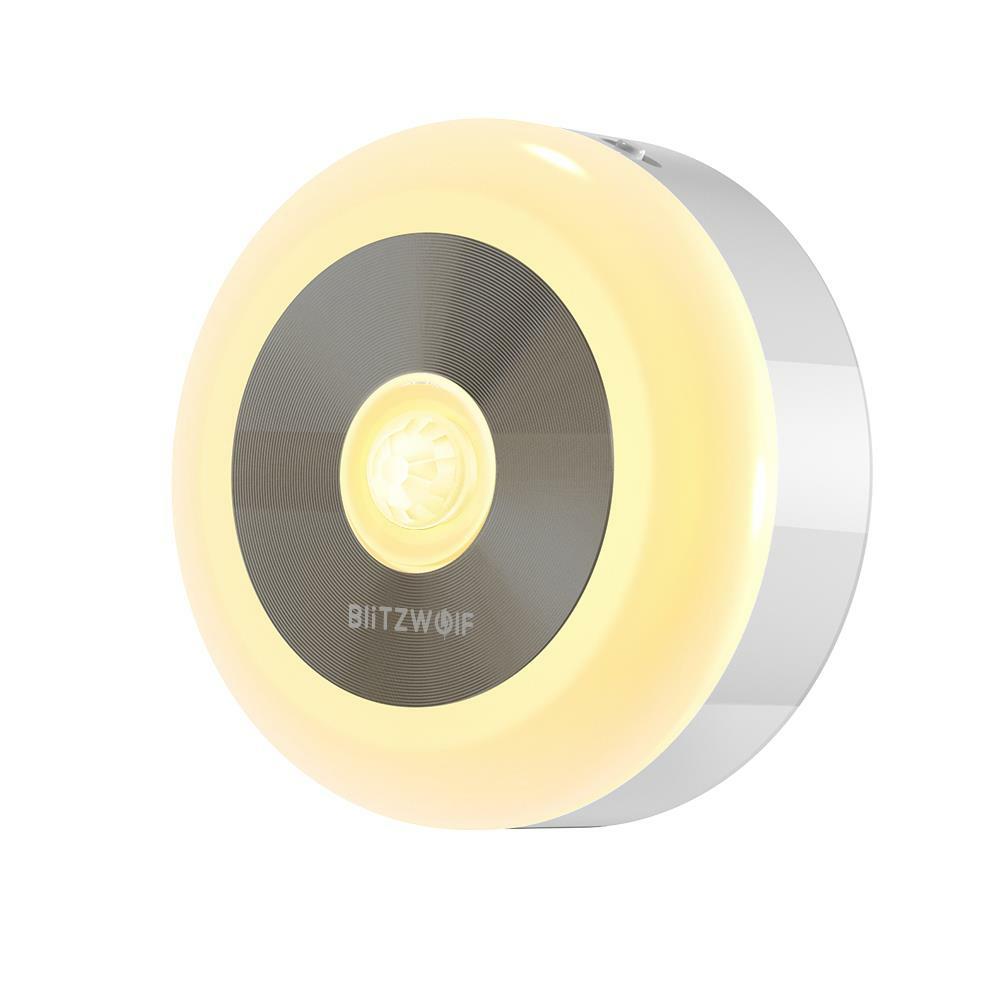 BlitzWolf® BW-LT15 LED Motion & PIR Sensore a infrarossi Luce notturna 3000K Temperatura di colore 120 ° Angolo di illuminazione Batteria Notte operata lampada