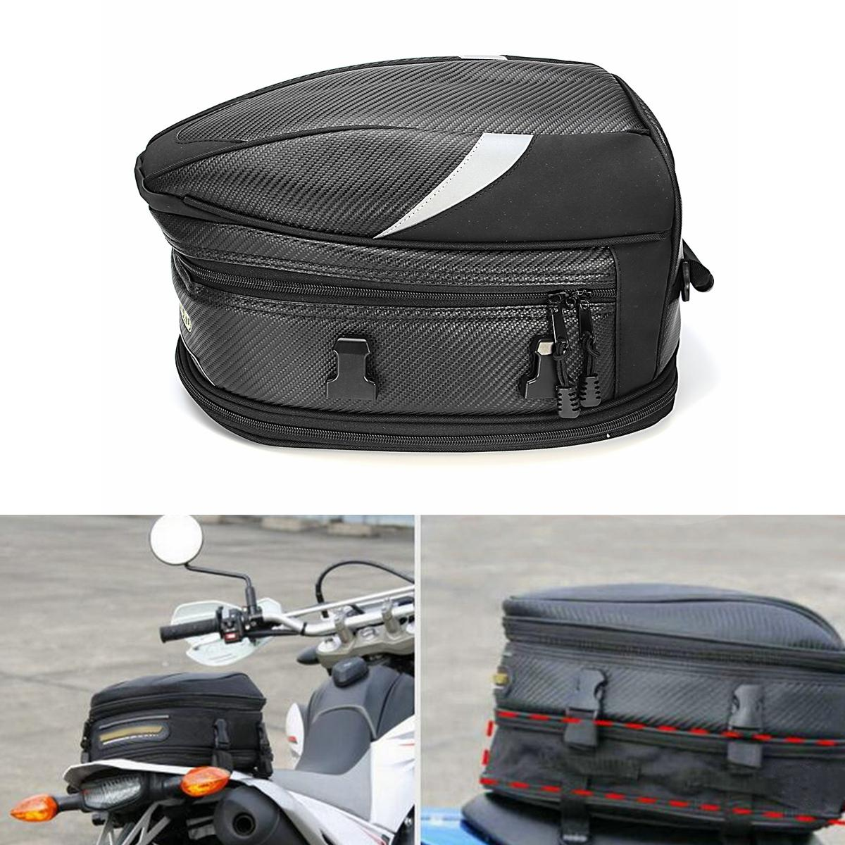 075ca9053c92 10L Motorcycle Rear Trunk Waterproof Back Seat Carry Luggage Tail Bag  Saddlebag
