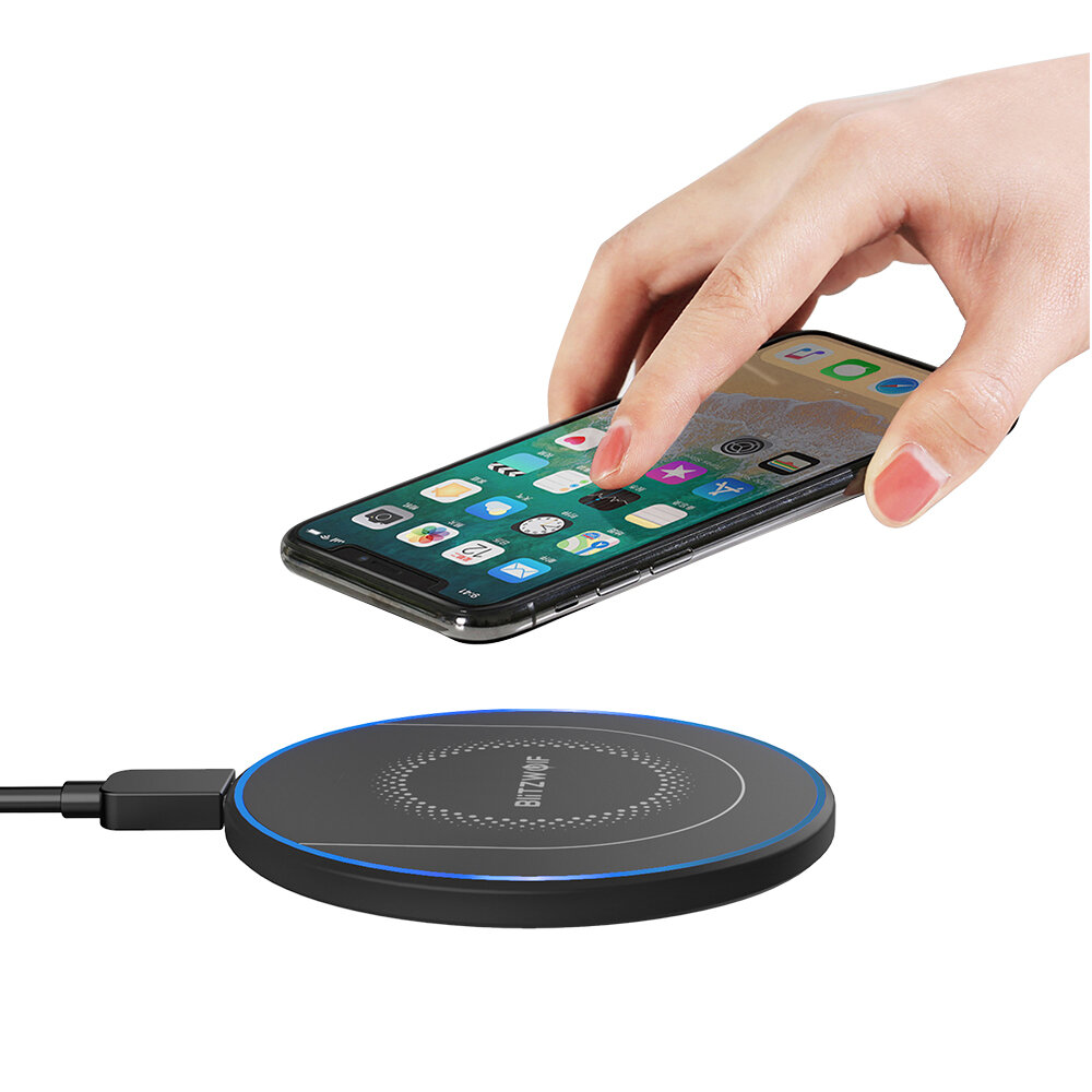 BlitzWolf® BW-FWC7 Qi Fast Wireless Charger 15W 10W 7.5W 5W for iPhone 11 Pro XS MAX XR S9 Note 9