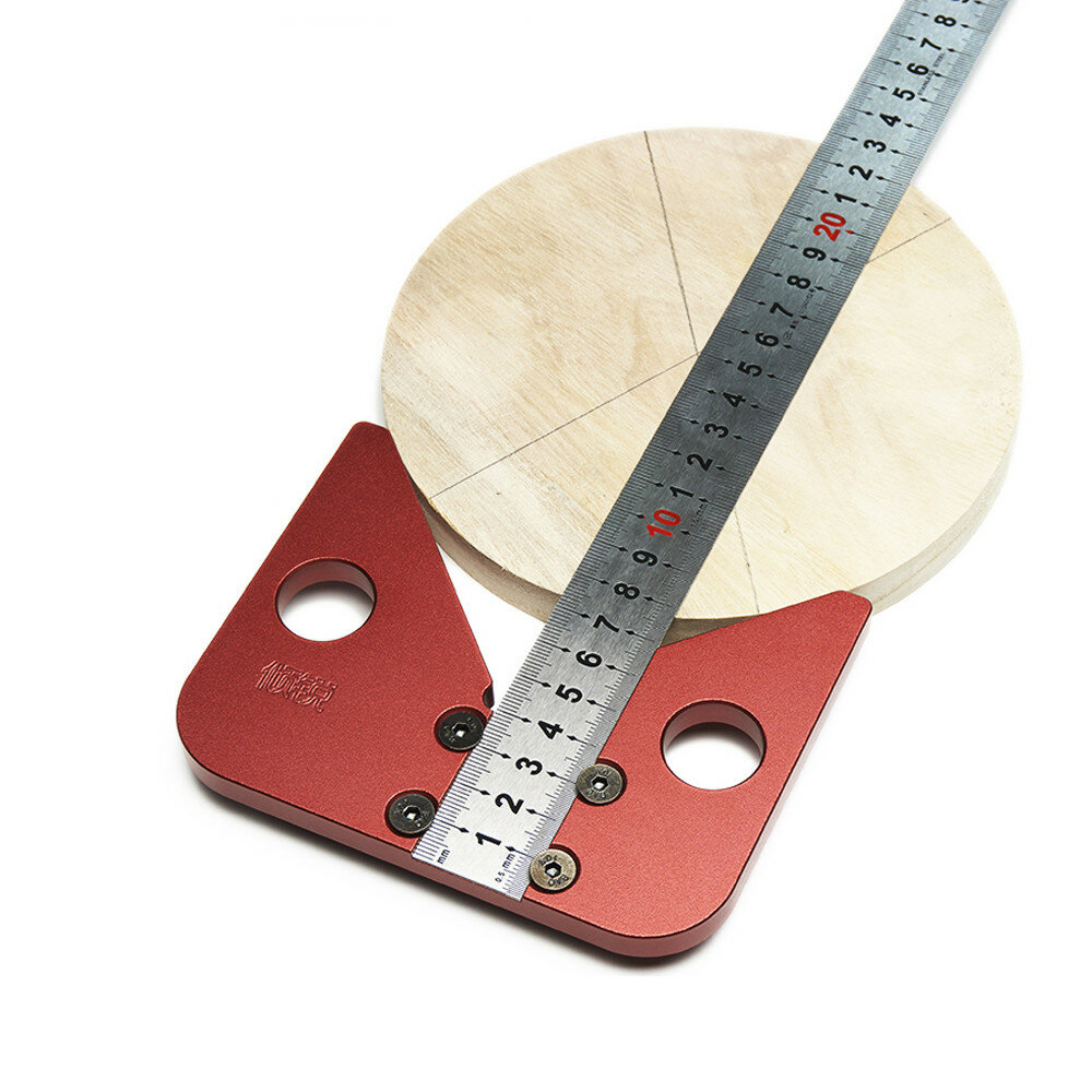 Woodworking Center Scriber 45 Degrees Angle Line Caliber Ruler Wood Measuring Scribe Tool
