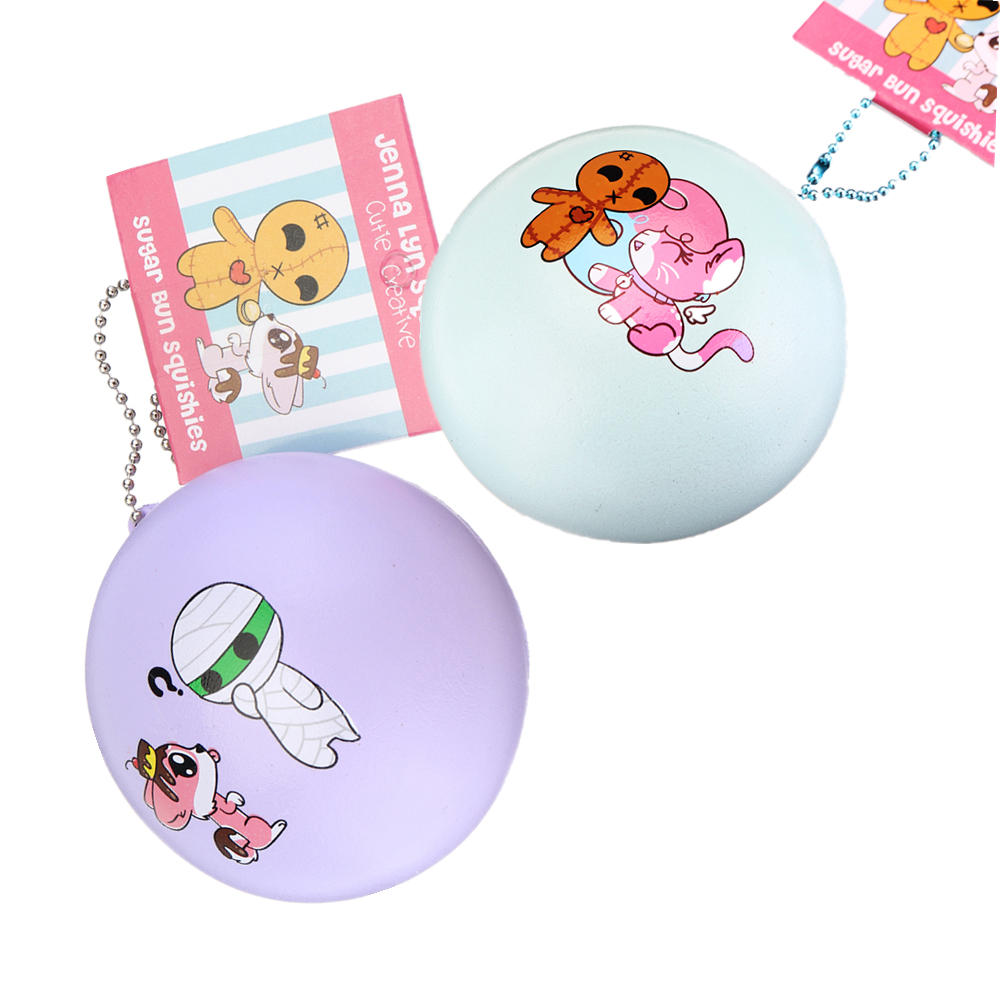 Cutie Creative 7cm Mummy Sugar Bun Bread Hanging Ornament Squishy Gift Collection With Packaging