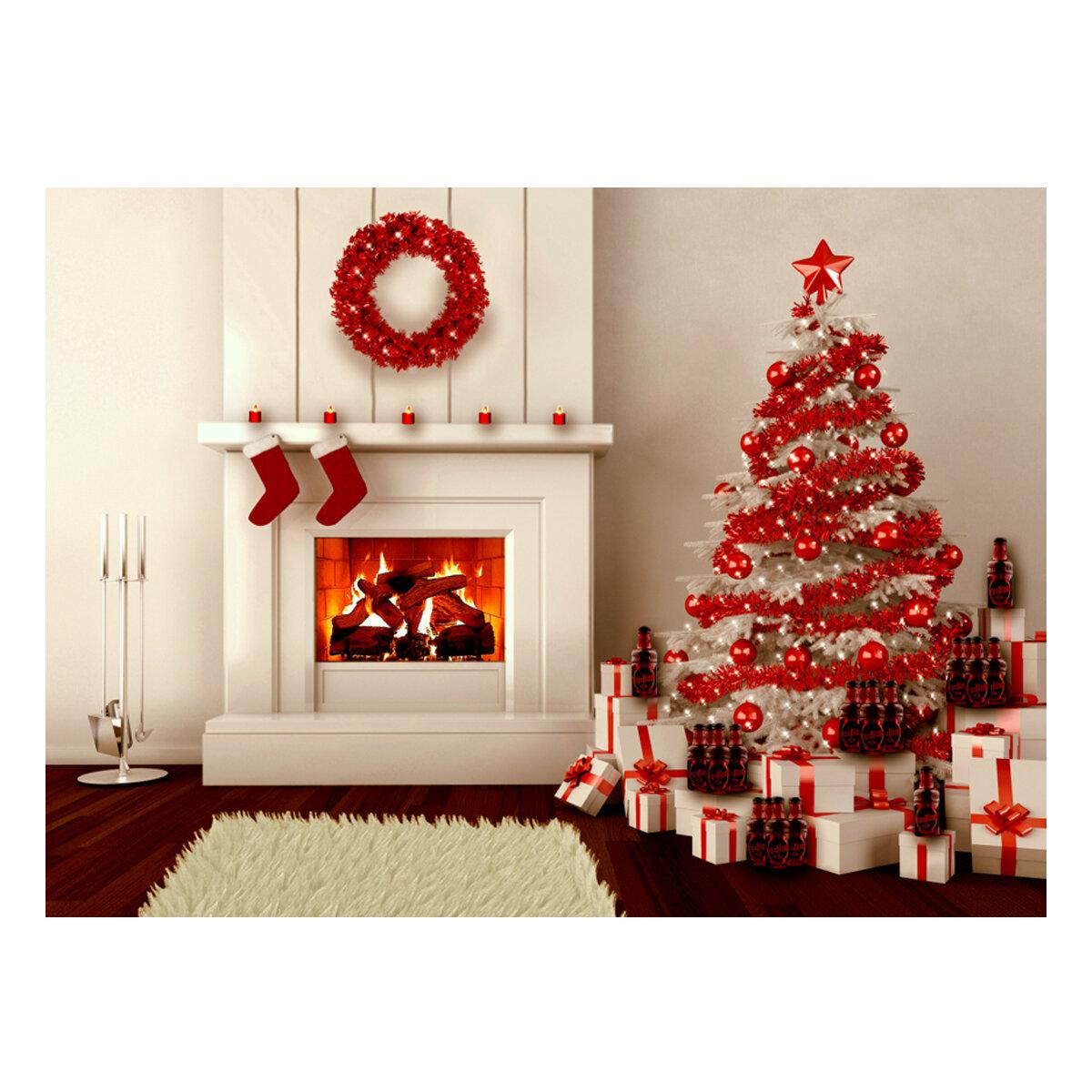 5x7ft Vinyl Christmas Tree Fireplace Gifts Stocking Background Photography Studio Backdrop