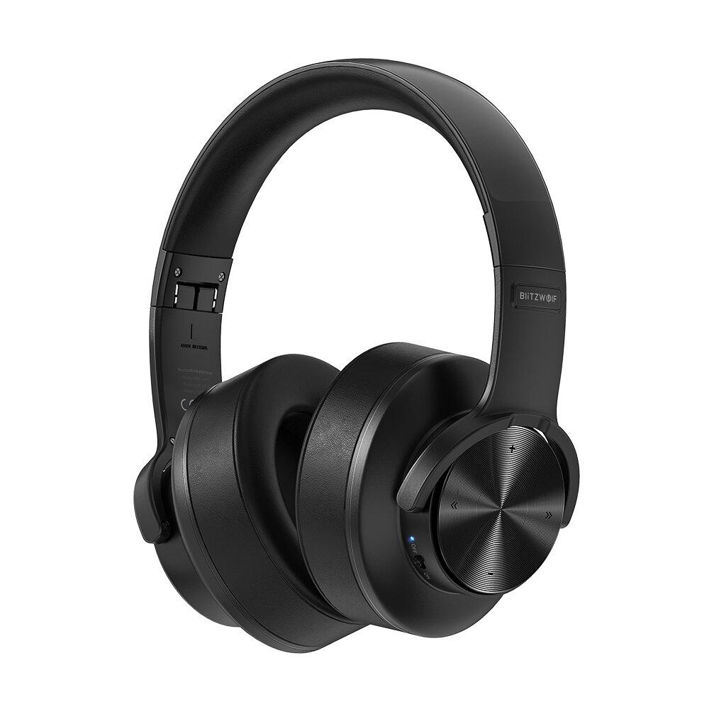 BlitzWolf® BW-HP2 bluetooth V5.0 Headphone Wireless Headset 50mm Driver 1000mAh Touch Control...