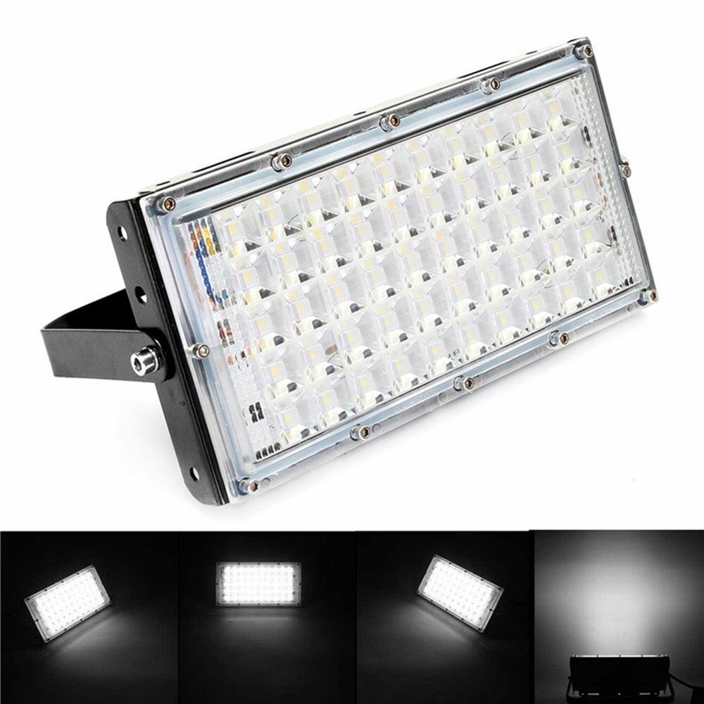 50w Black S Led Flood Light Waterproof White Landscape Garden Lamp For Outdoor Ac185 265v