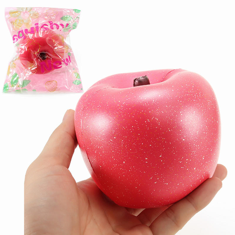 YunXin Squishy Apple Jumbo 10cm Soft Soft Slow Rising Met Packaging Collection Gift Decor Toy