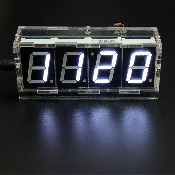 Geekcreit® DIY 4 Digit LED Electronic Clock Kit Temperature Light Control Version