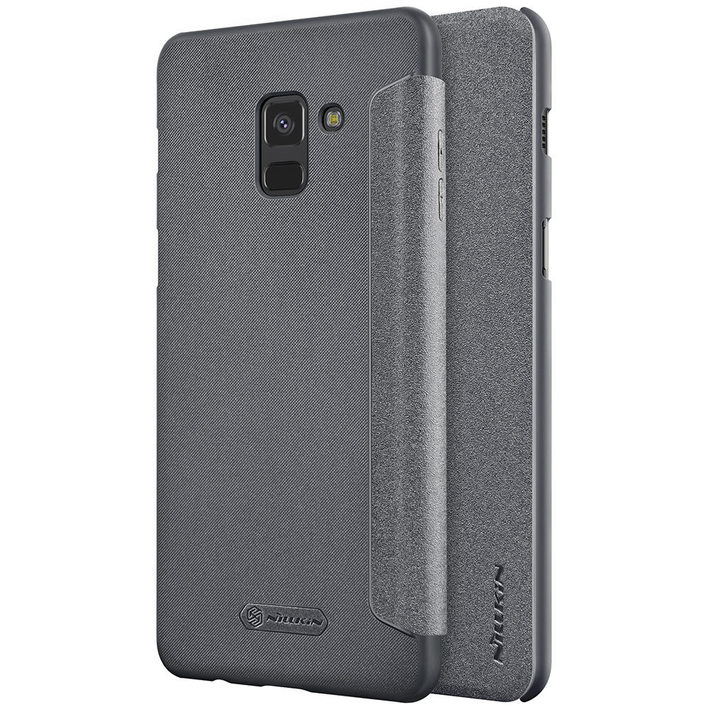 separation shoes 1ffd6 98cba NILLKIN Flip PU Leather Hard PC Protective Case for Samsung Galaxy A8 (2018)