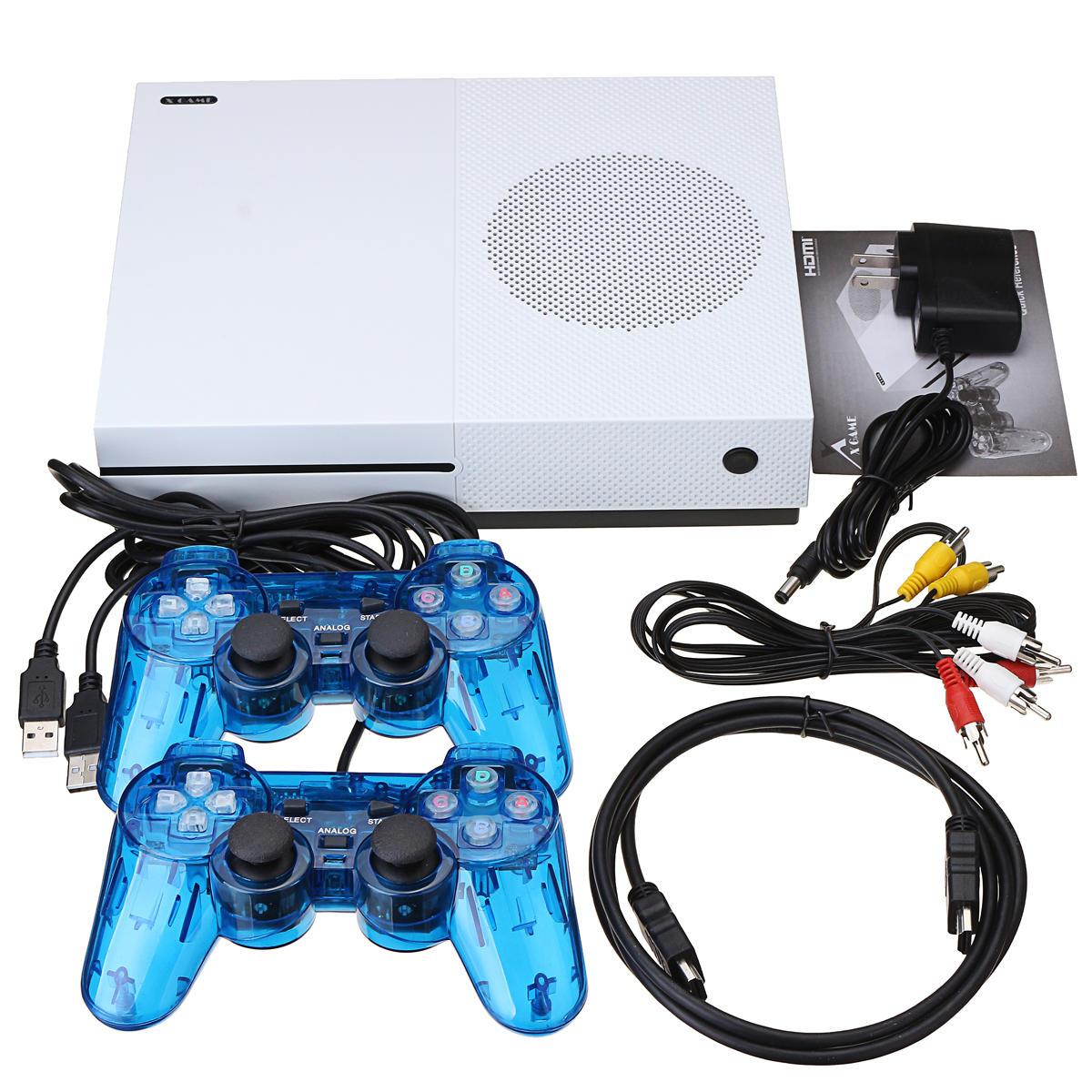 Classic Spelkonsol Inbyggd 600-spel TV-film HD Utmatningsvideo med 2 joysticks