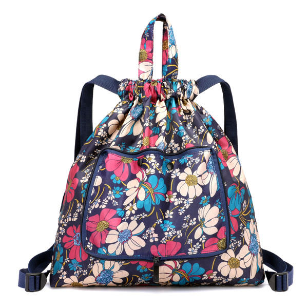 Foldable Light Weight Large-capacity Handbags Nylon Print Backpack