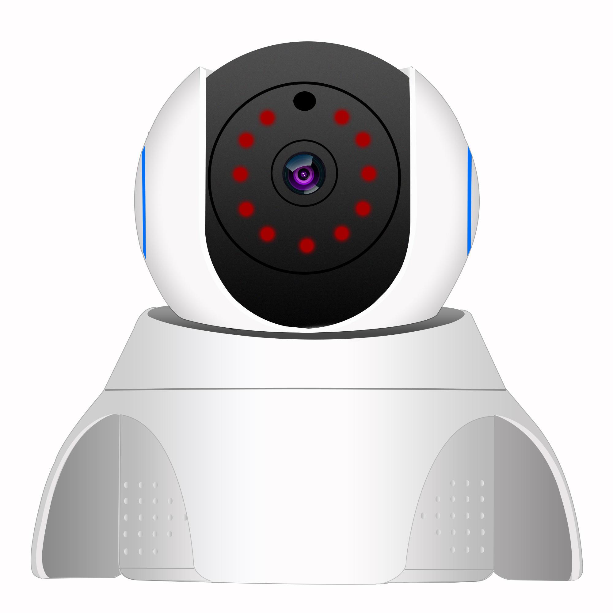 1080 P Kablolu / Kablosuz Güvenlik Wifi IP Kamera Pan / Tilt Gece Görüş CCTV Kamera Sistemi