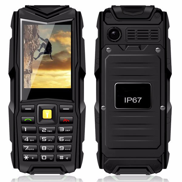 MAFAM V3 5200mAh IP67 Waterproof Power Bank Dual SIM Cards Feature Phone
