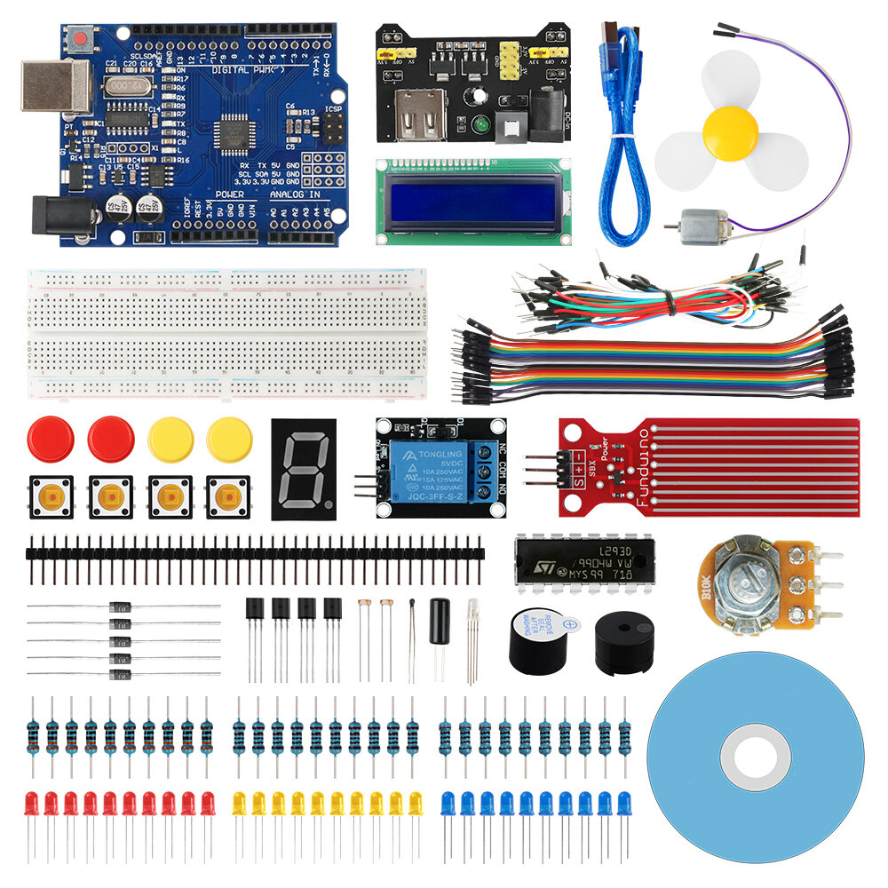 Geekcreit® Starter Kit for Arduino UNO R3 ATmega328P with 15 Lessons Tutorial Compatible with Arduino IDE Mixly for Begi