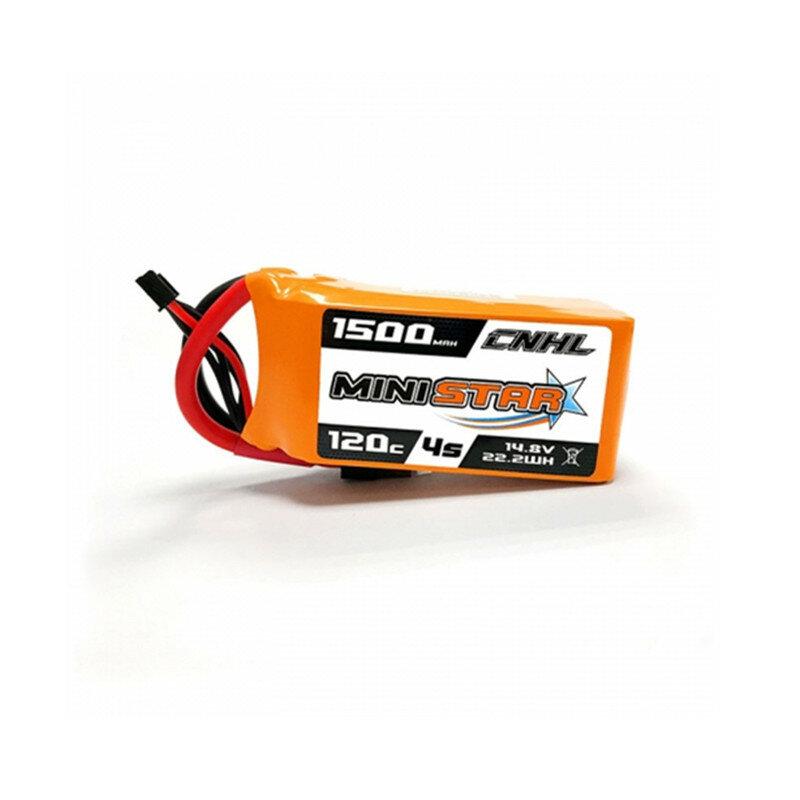 CNHL MiniStar 14.8V 1500mAh 4S 120C Lipo battery XT60 Plug for RC Drone FPV Racing