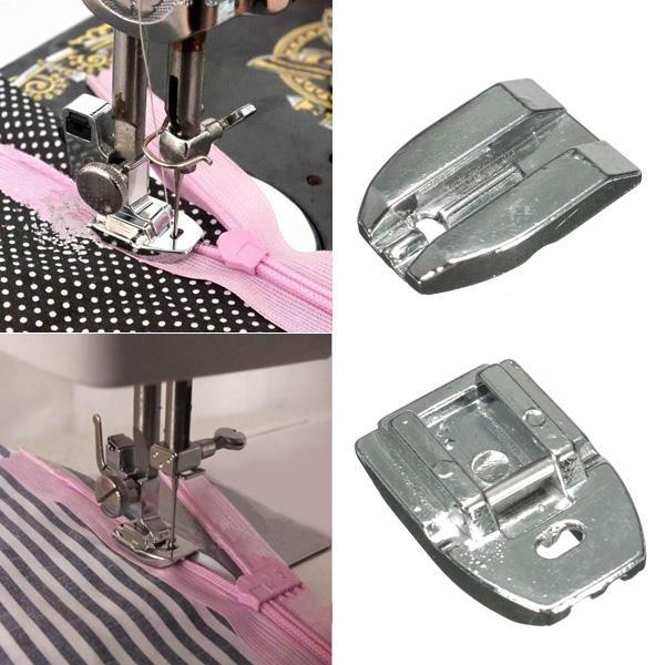 Coser pie herramienta de coser pie de la máquina prensatelas prensatelas cremallera invisible