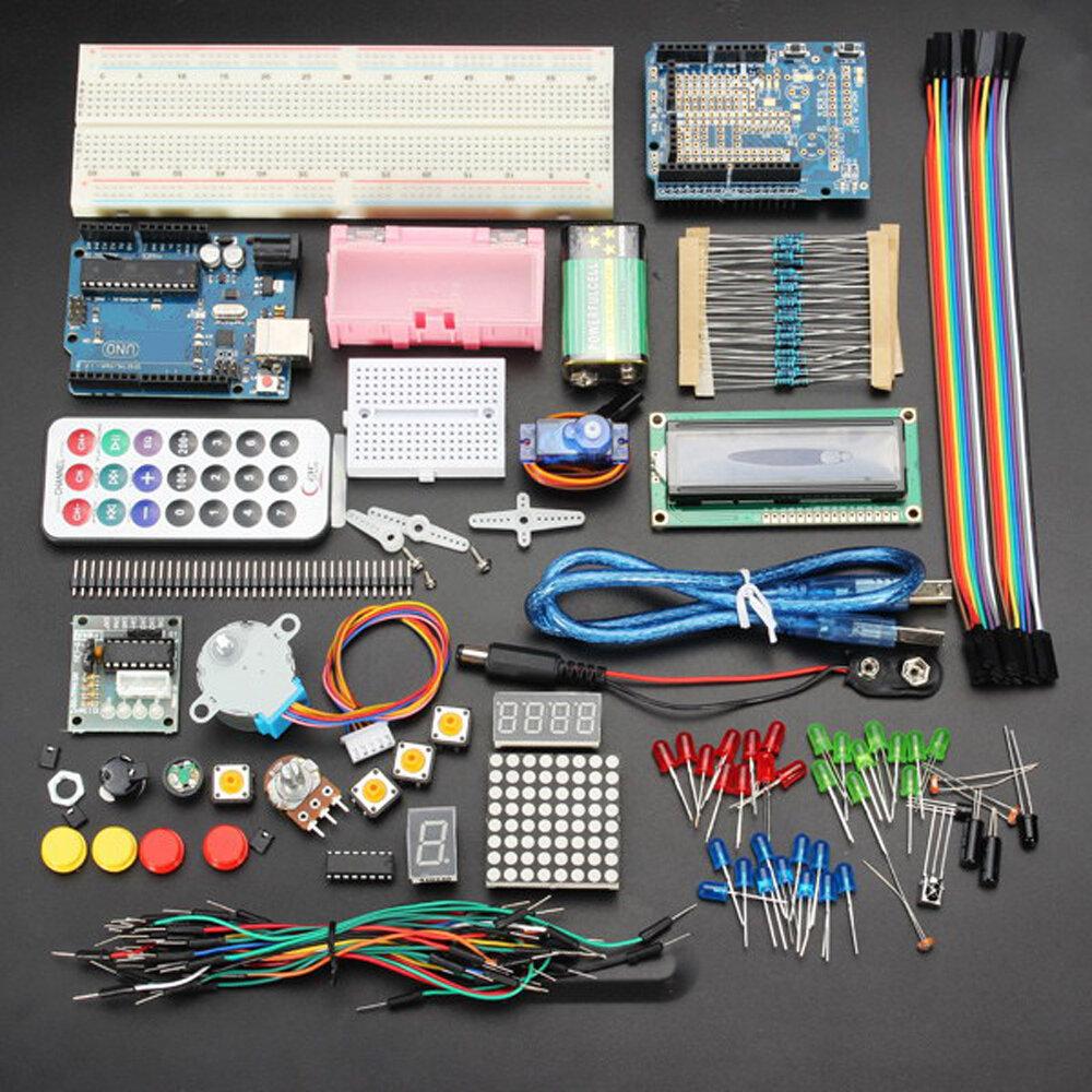 Geekcreit UNO R3 ชุดเริ่มต้นการเรียนรู้ขั้นพื้นฐานรุ่นอัพเกรด Geekcreit สำหรับ Arduino - ผลิตภัณฑ์ที่ทำงานร่วมก