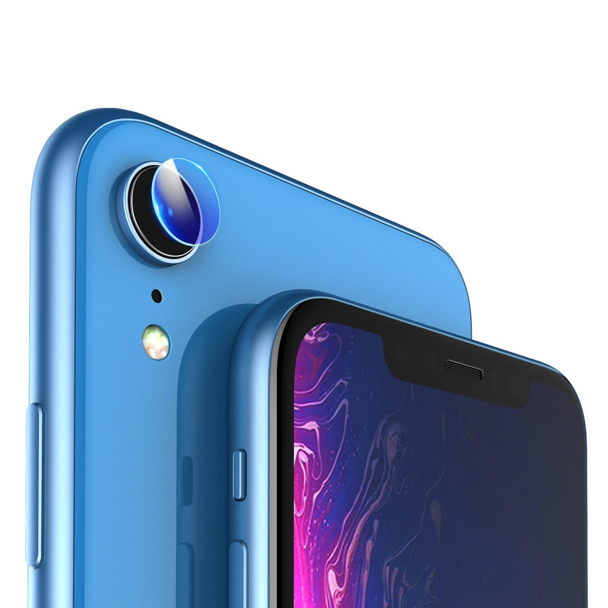sports shoes d258f fd2c0 2 Packs Rock Scratch Resistant Tempered Glass Rear Camera Lens Protector  Film For iPhone XR