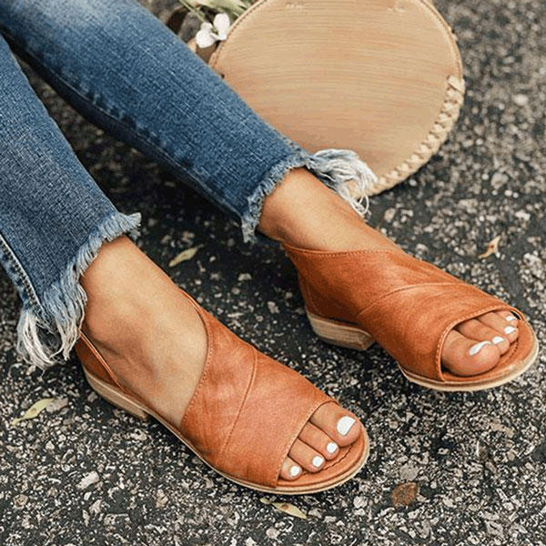Large Size Women's Sandals Slip On Casual Shoes