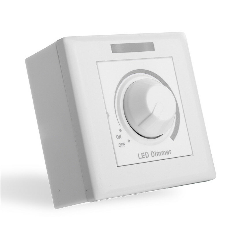 AC220V/110V IR Dimmer Control LED Light Wireless Wall Switch Fireproof Material Single