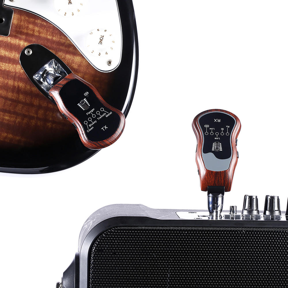 K380C 5 In1 Wireless Guitar Effects bluetooth Transmitter Receiver for Electric Guitar Bass