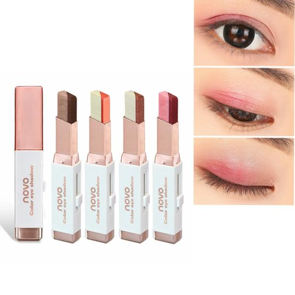 6 màu Double Color Pearl Eyeshadow Pen Eye Shadow Stick Gradient Colors Makeup