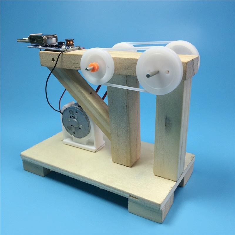 DIY Hand Crank Generator Scientific Education Material Assemble Model Kids Student Classroom Manual, Banggood  - buy with discount