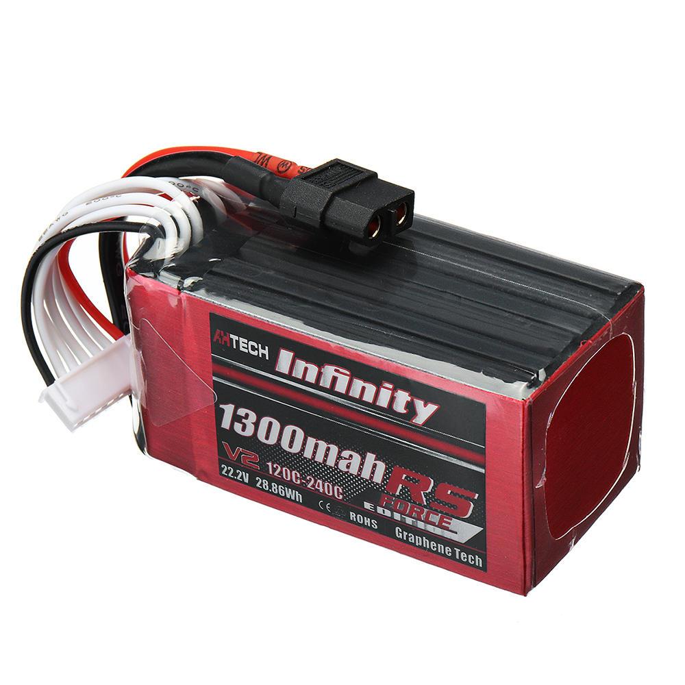 AHTECH Infinity RS फ़ोर्स V2 22.2V 1300mAh 120C 6S लिपो बैटरी XT60 प्लग फॉर FPV RC ड्रोन