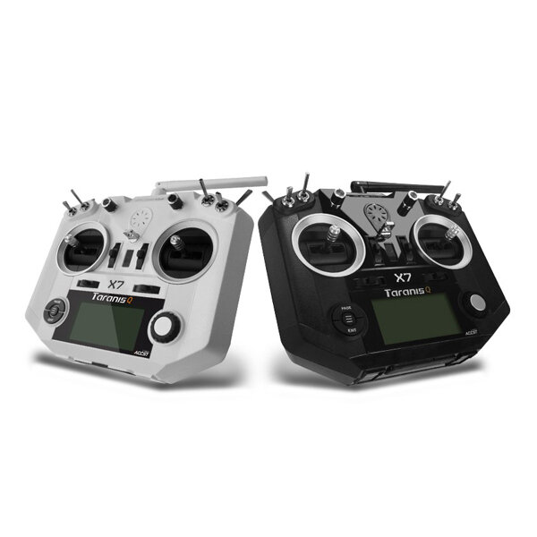 FrSky ACCST Taranis Q X7 Transmetteur 2.4G 16CH Blanc Noir Version Internationale