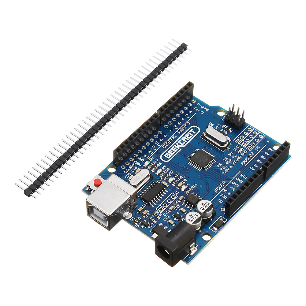 UNO R3 ATmega328P Development Board No Cable Geekcreit for Arduino - products that work with official Arduino boards