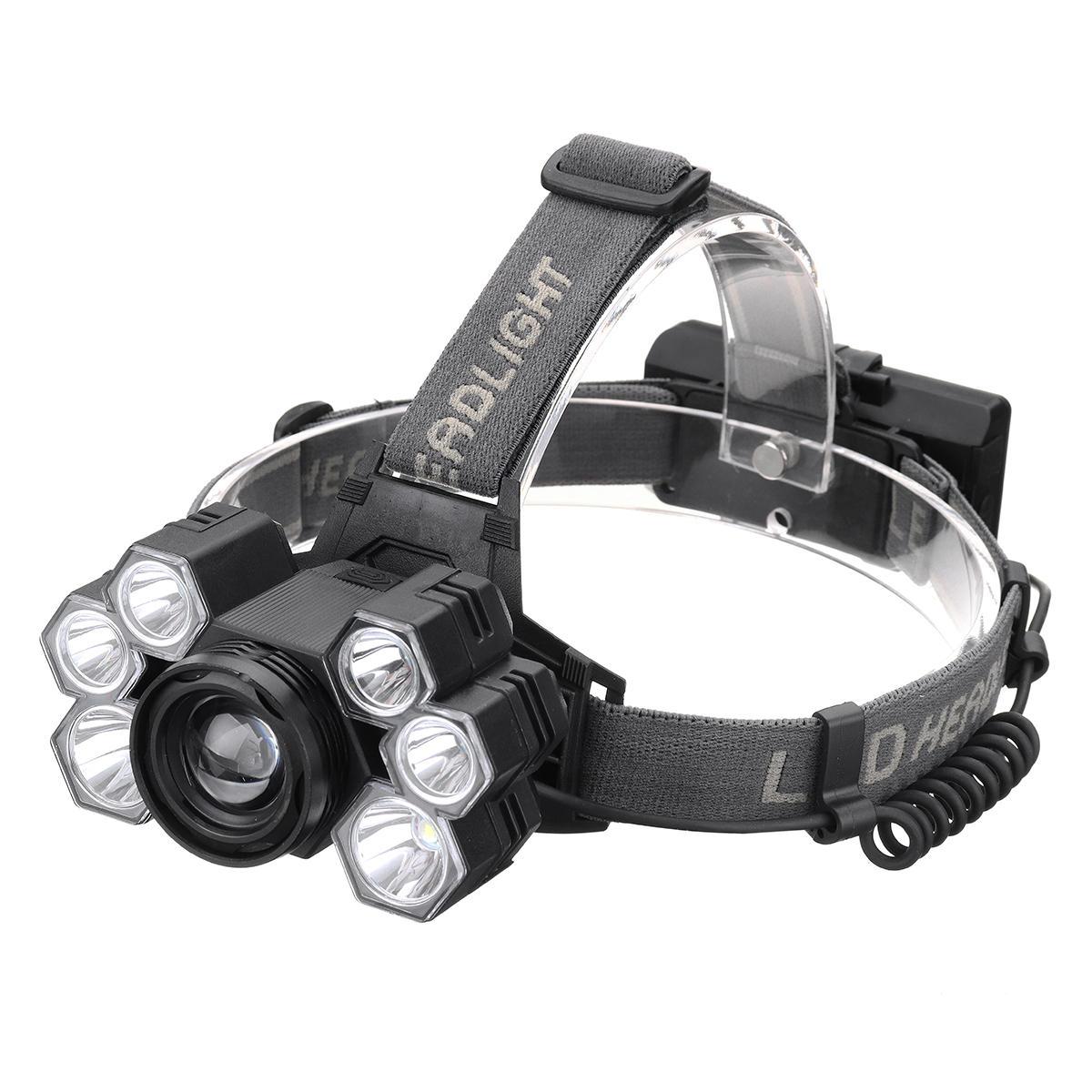 XANES 4101-7 Dengan 2 * 18650 Baterai 3500LM 3 * T6 + 4 * XPE LED Headlamp Mekanik Zoom USB Isi Ulang