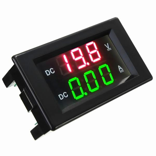DANIU YB4835VA 0-100V 20A Dubbel display Volt Meterr Strömmätare Digital LED