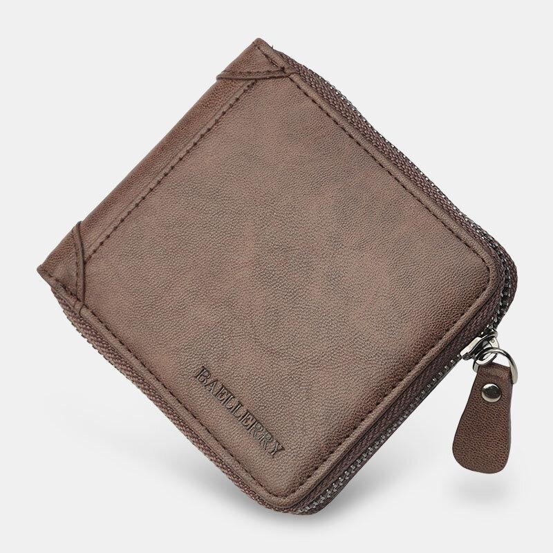 Men PU Leather Bifold Short Multi-card Slot Card Card Holder Coin Purse Money Clip Wallet