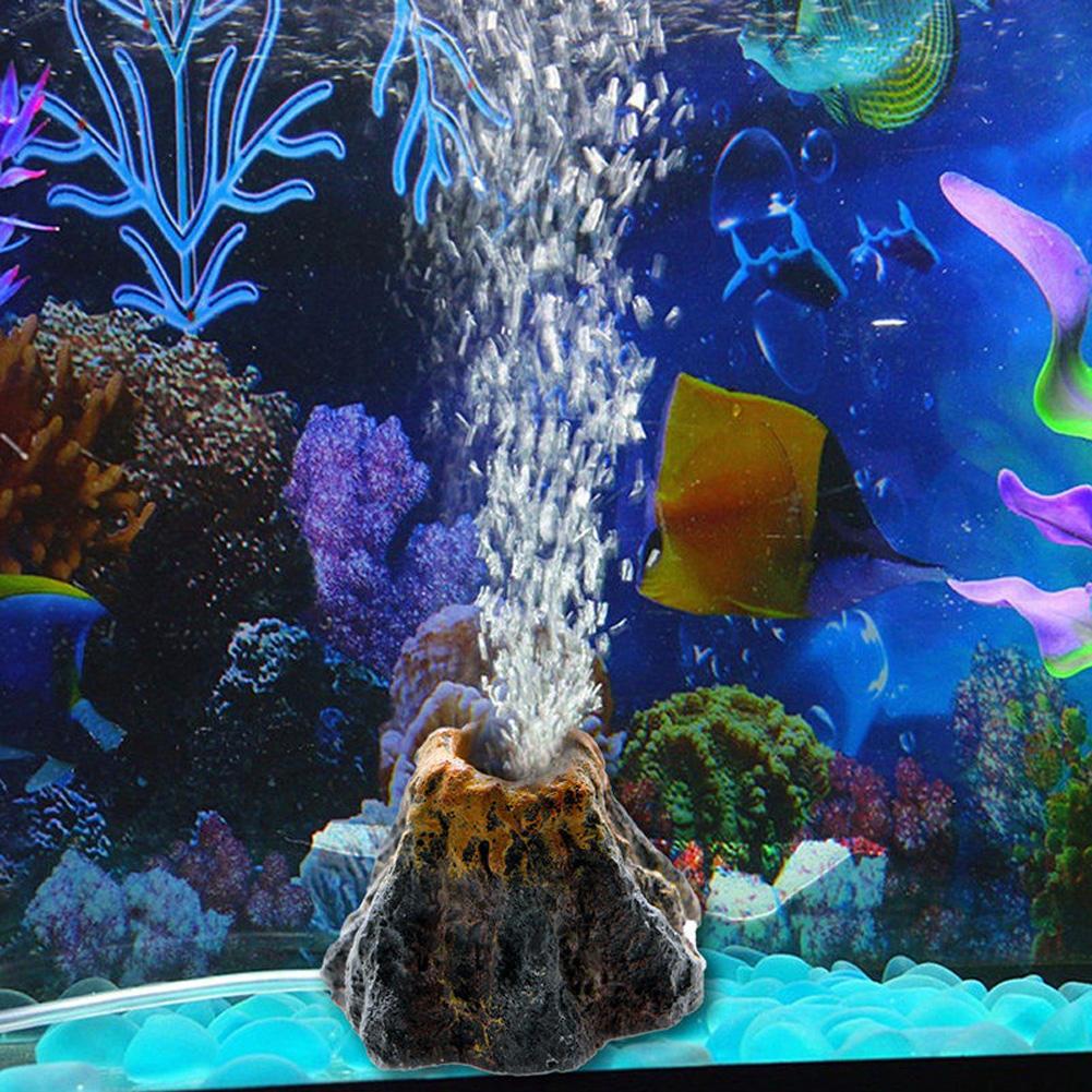 Volcano Shape Aquarium Fish Tank Decor Oxygen Pump Air Bubble Stone Air Pump Drive Fish Tank Decorations