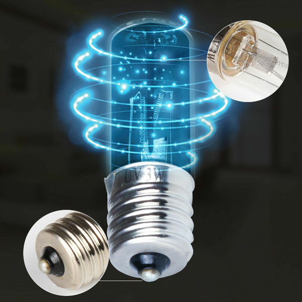 10V 3W UVC التعقيم مبيد للجراثيم التعقيم ضوء الكوارتز مصباح LED لمبة