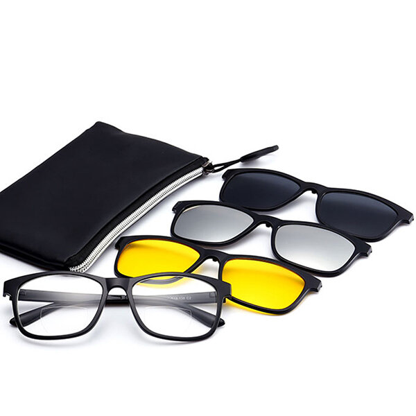 3 Piece Magnet Dual-Purpose Reading Glasses Lens With Frame, Banggood  - buy with discount
