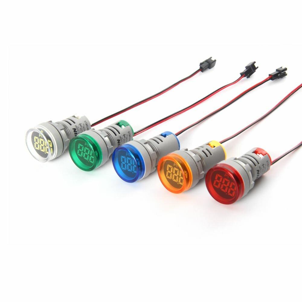 NIN® AD101-22AM 0-100A 22MM Mini LED Цифровой амперметр 5 доступных цветов Круглая панель измеритель тока Тестер Контрол