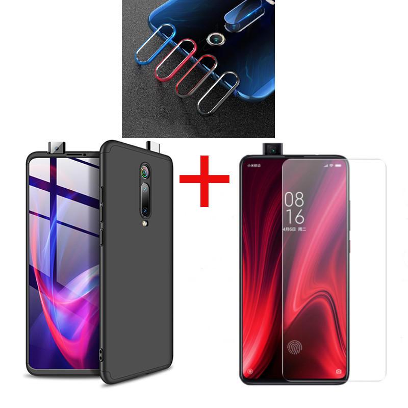Bakeey हार्ड पीसी सुरक्षात्मक मामले + टेम्पर्ड ग्लास स्क्रीन रक्षक + लेंस रक्षक के लिए Xiaomi Mi 9T / Mi 9T PRO/Redmi K20/Redmi