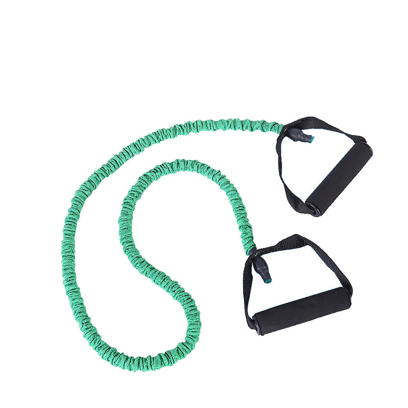 Specifications:ColorGreenSize7 * 11 * 1200mmMaterialTPR, PP. FoamWeight10-12LB, 15-20LB, 25-30LB, 30-35LB, 45-50LB (kg)Description:SUPER QUALITY: Our exercise resistance bands are easy on skin and free from defects and and will provide you with a worry free experience. This resistance band set can be integrated seamlessly with every popular workout program including, Yoga, Pilates and more.Ideal Gift for Exercise: Professional grade exercise and resistance bands are ideal for conditioningrehabbing muscles as well as specific training, for Sports Athletes, Seniors, Physical Therapy, Strength Training, Rehabilitation, Wrestling, Bodybuilding, Pilates, Yoga, Kickboxing, Chair Workouts.Use It Anywhere: The bands can go anywhere with you, for workouts at home, outdoor, office, gym or when travelling.IMPROVE YOUR FLEXIBILITY AND RANGE OF MOTION: Stretch strap provides additional stability during unassisted stretches and poses. Highly effective for athletes, dancers or for physical therapy, the stretch strap improves flexibility and increases range of motion for better performance while reducing the risk of injury.Package included:1 xElastic Band