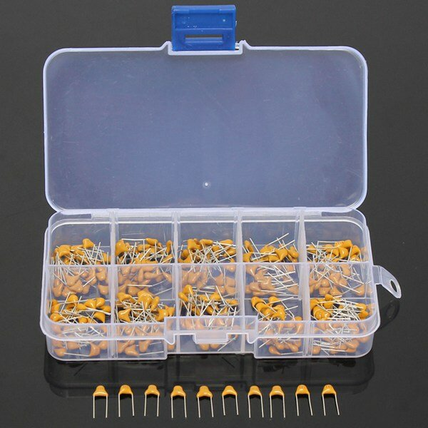Geekcreit® 300pcs 10 Values 50V 10pF To 100nF Multilayer Ceramic Capacitor Assortment Kit 30pcs Each Value