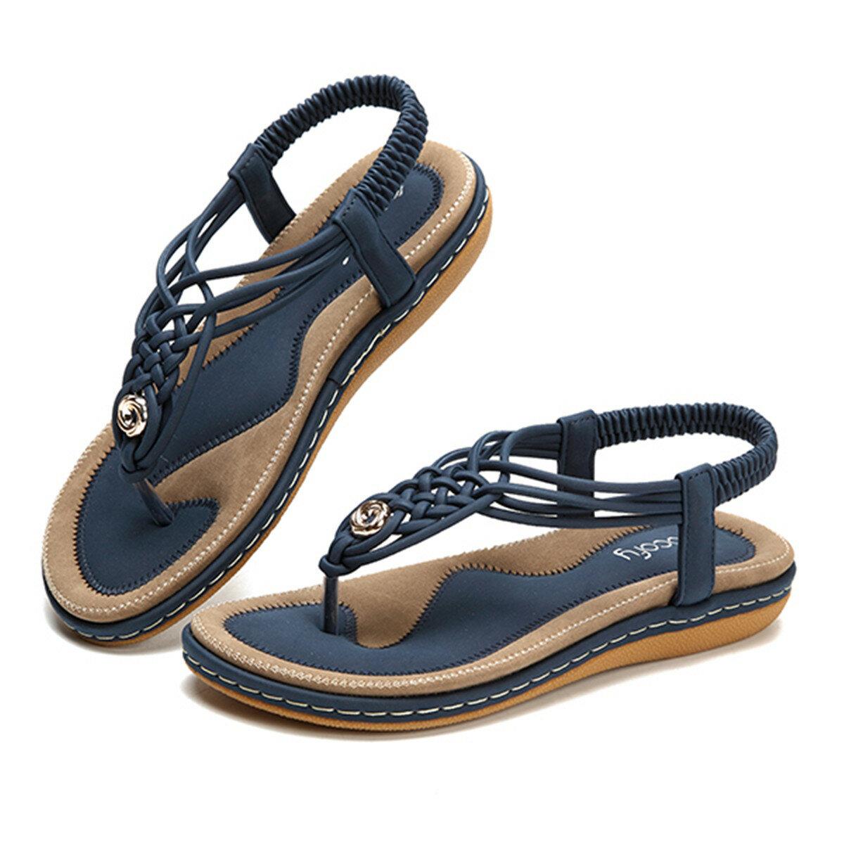 SOCOFY US Размер 5-13 Женское Обувь Вязаный Повседневный Soft Sole На открытом воздухе Пляжный Сандалии