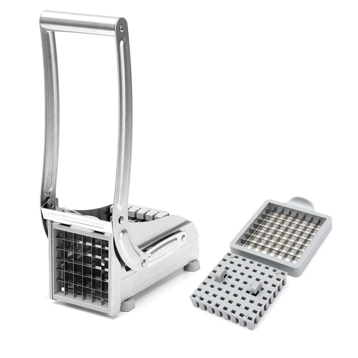 Stainless Steel French Fry Potato Cutter Maker Slicer Chopper Dicer with 2 Blade
