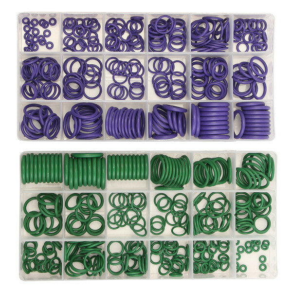 Suleve™ MXRW1 R22/R134a Air Conditioning O-Ring Rubber Rings Waterproof Washer 270Pcs