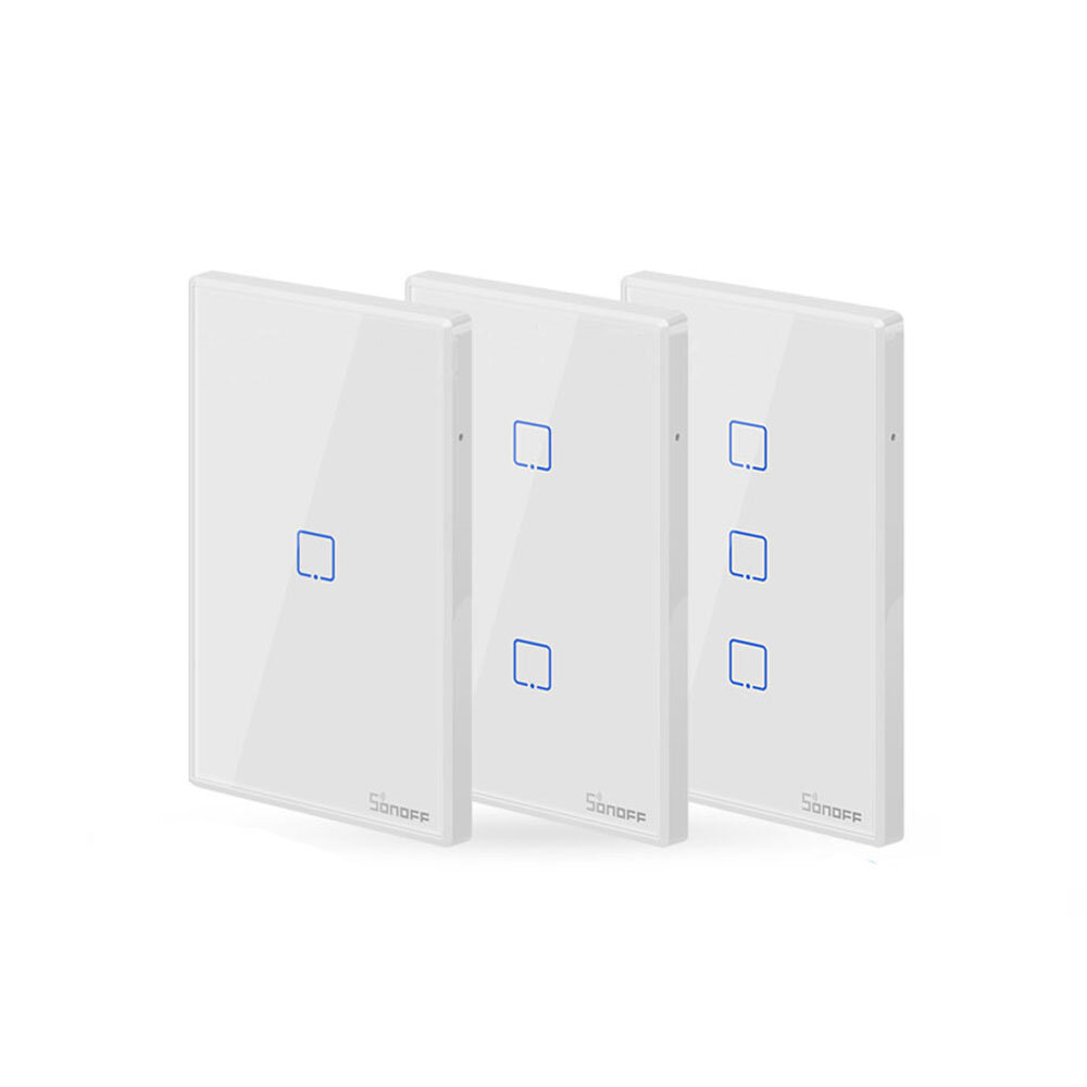 SONOFF® T2 EU / US / UK AC 100-240V 1/2/3 Gang TX Series 433 MHz WIFI Dinding Switch RF Smart Wall Sentuh Switch Untuk Smart Home Bekerja Dengan Alexa