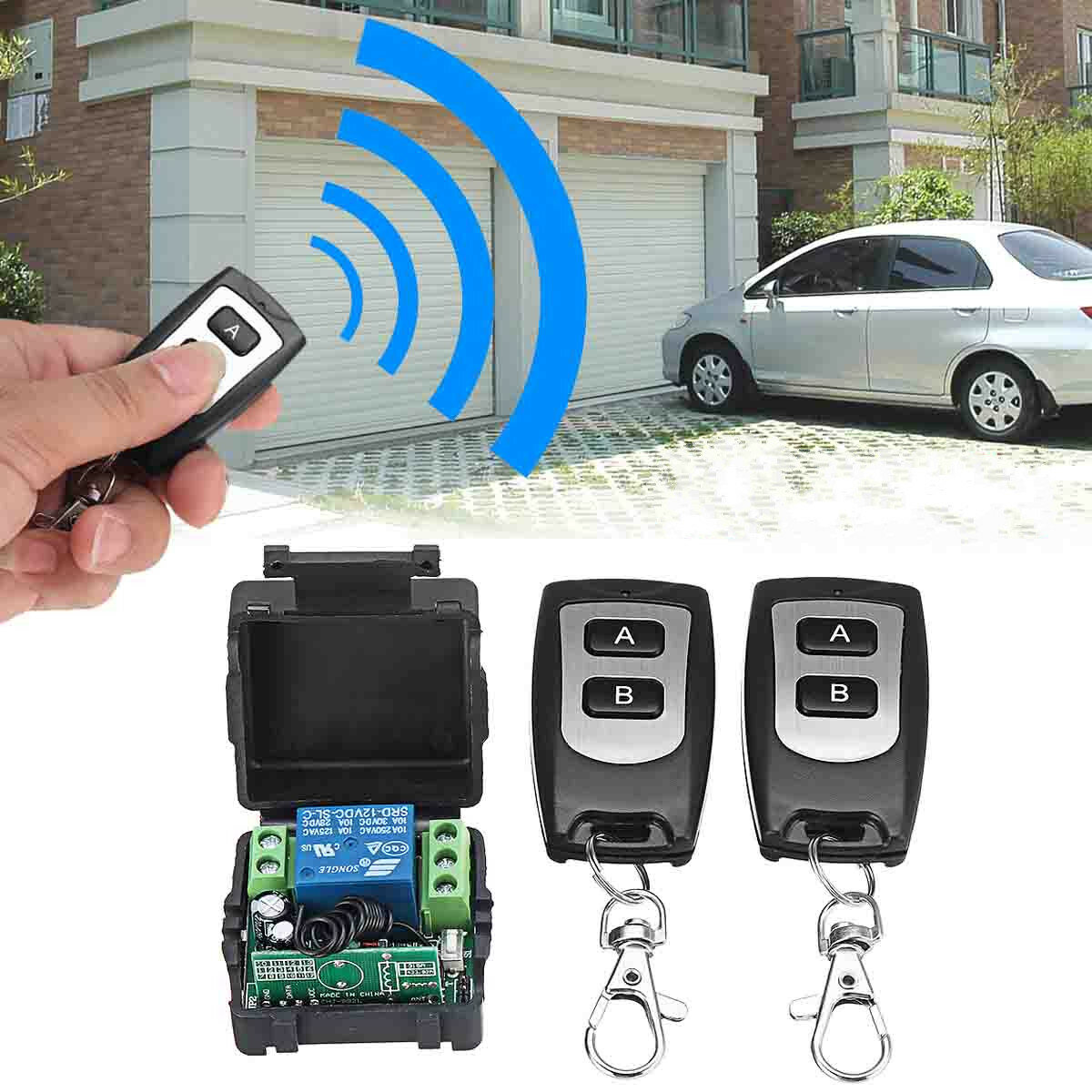 DC12V 433MHz Relay 1CH Wireless RF Remote Control Switch Transmitter for Light