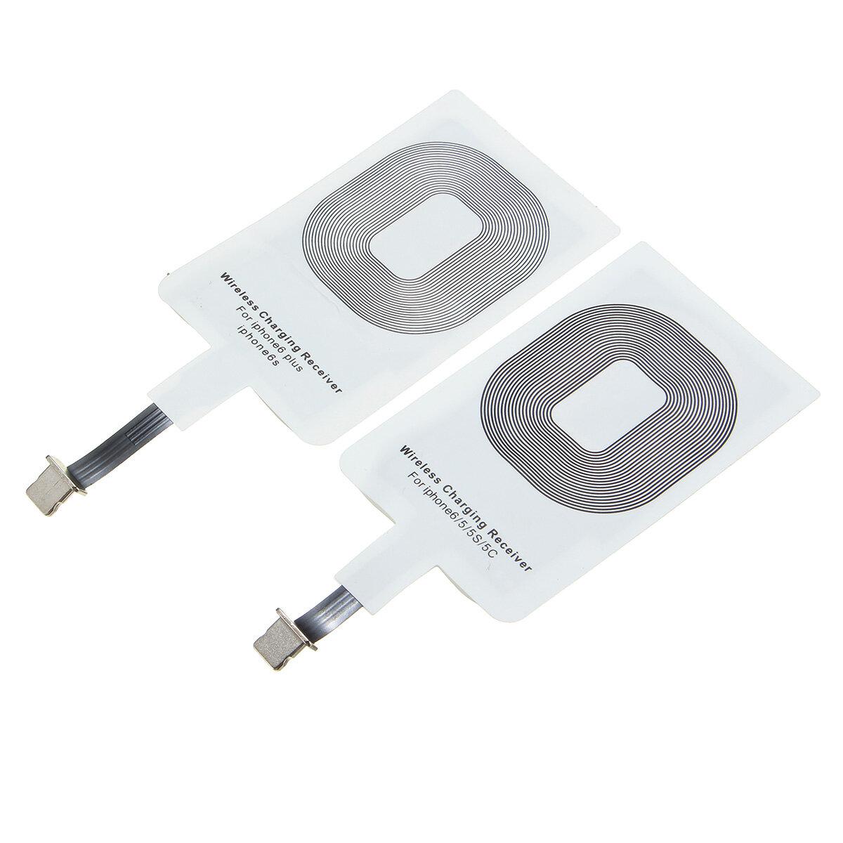 Qi Pengisi Daya Nirkabel Pengisian Receiver Charger Pad Mat Untuk Iphone 5S 5C 6 6plus