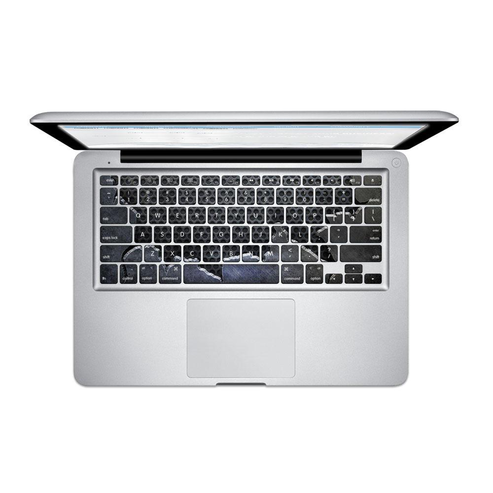 PAG mảnh thép tấm Bàn phím PVC Bong bóng tự dính Decal miễn phí cho Macbook Pro 13 15 Inch