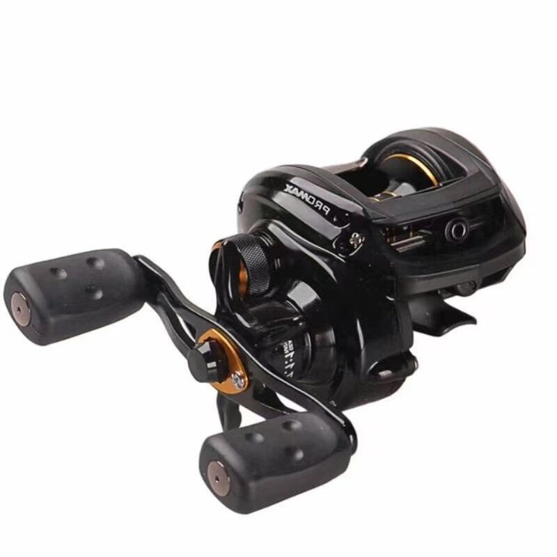 Abu Garcia PMAX3 7+1BB Fishing Reel Metal Long Casting Reel Super Smooth Double Brake Left and Right Hand Baitcast Reel