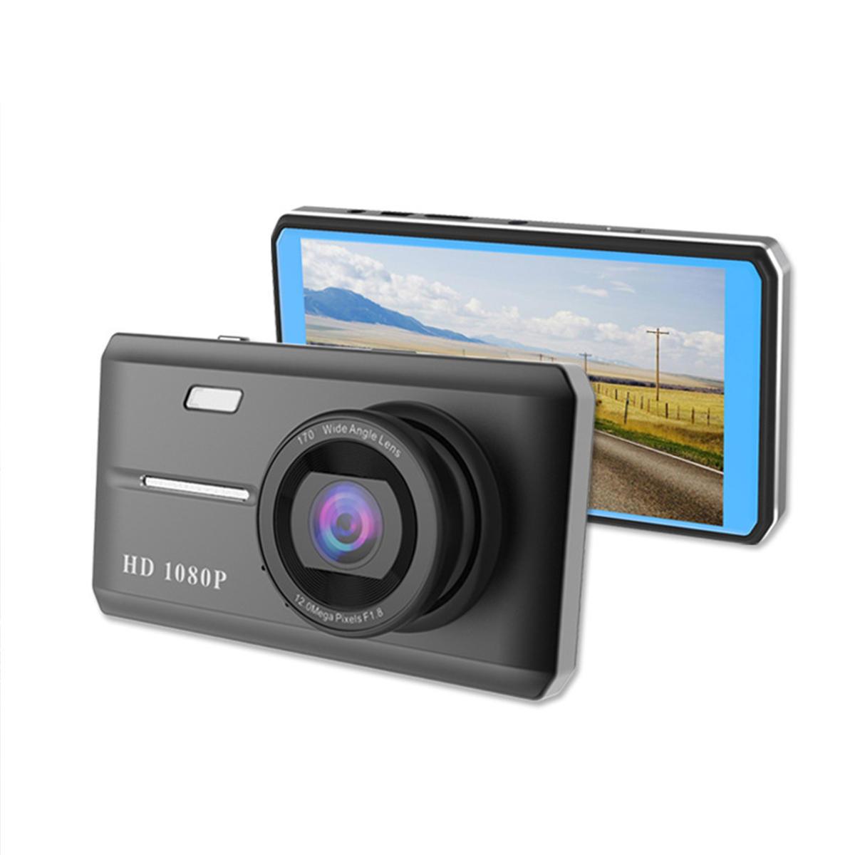 HK108 टच 4.5 इंच 1080P रियर कैमरा के साथ डुअल लेंस कार डीवीआर